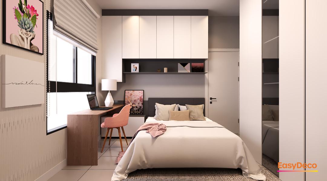 Decoração de quarto moderno para uma vida moderna